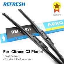 REFRESH Щетки стеклоочистителя для Citroen C3 Pluriel Fit Hook Arms 2003 2004 2005 2006 2007 2008 2009 2010