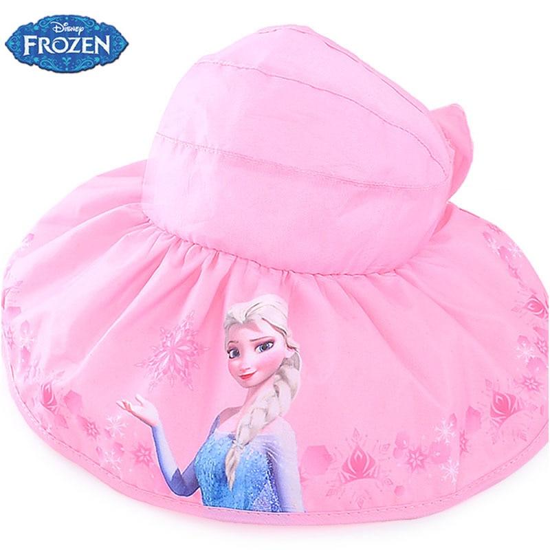 Girls Children Kids blue Cotton FROZEN ELSA Bucket Sun Summer Hat Cap 1-8YEARS