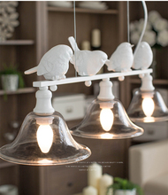 Phube Lighting Nordic Creative Bird Chandelier Light Glass Chandeliers Modern Free Shipping