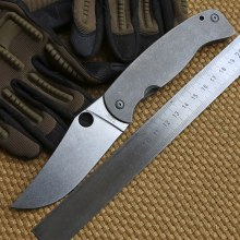 Ben 2016 Large Spider C185 Titanium High-Vanadium tool steel Blade Folding Knife Kitchen Outdoor Survival fruit Pocket EDC Tools