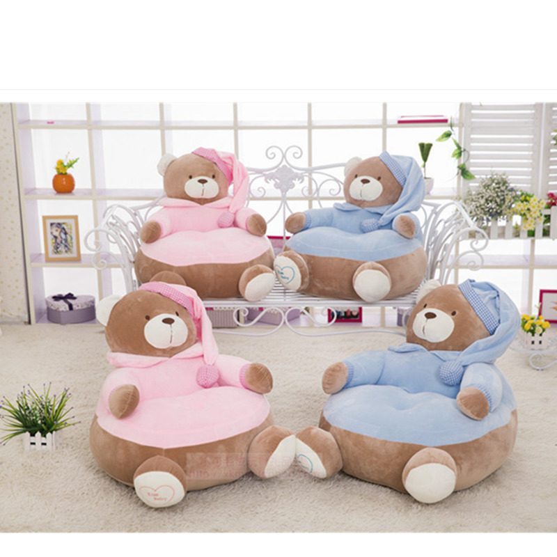 Lovely Bear Sofa, Baby Sofa, Baby Chair, Cartoon Style, Soft Seat, 45*45cm, Best Gifts for  1~3 Years Old Kids, Baby Toy hot sale super soft baby sofa multifunctional inflatable baby sofa chair sofa seat portable child kids bath seat chair