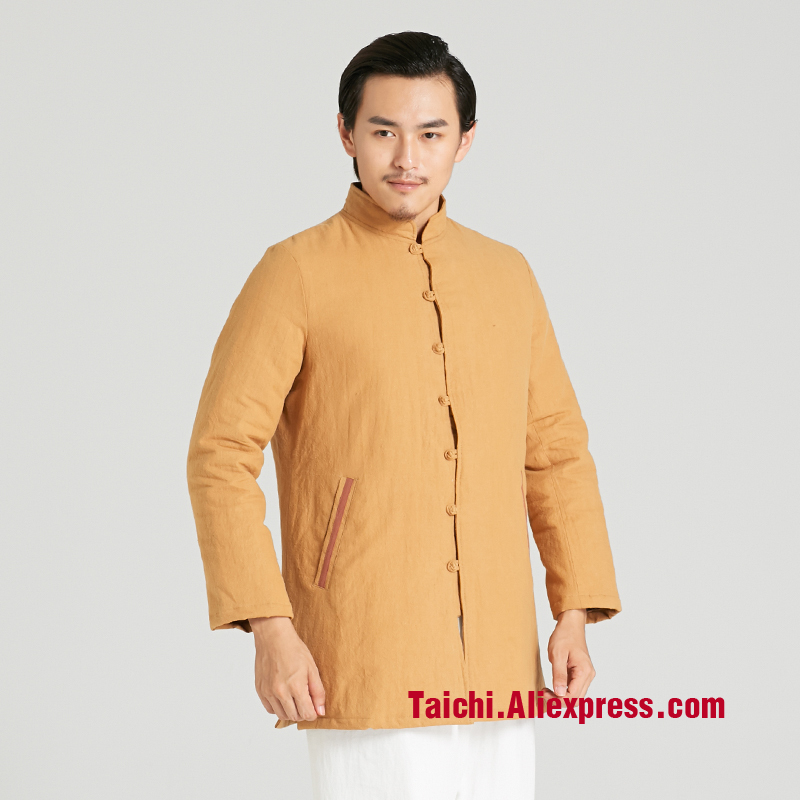 Winter Thickening  Martial Art Tai Chi Uniforms Taiji Clothes Jacket Men   Linen Chinese Style Clothing