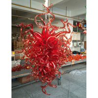 Longree Chihuly style vintage ceiling lamp pendant lamp shell chandelier led light pendant lamp for Christmas holiday decor