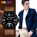 Men's Sports Quartz Watches Mens Top Brand Luxury Leather Wristwatches Relogio Masculino Men Military SKMEI Watches reloj hombre
