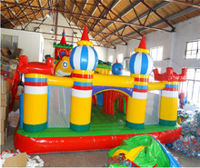 цена на Inflatable bounce house and slide combo,,material PVC inflatable fun city