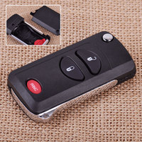 2 1 Button Folding Flip Remote Key Keyless Shell Case FOB Fit For Chrysler Voyager Town