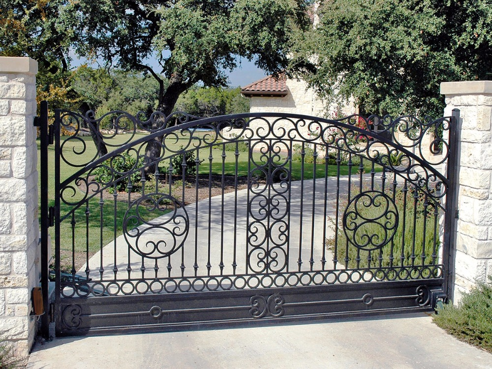 Wrought Iron Side Gates  Sliding Driveway Gates Aluminium Gates