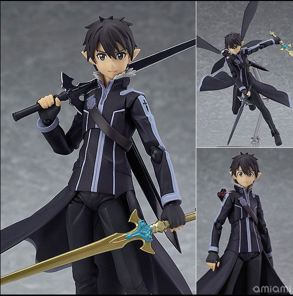 Sword Art Online Action Figures Toy Kirigaya Kazuto Figma PVC 140mm SAO Collection Model Toys Anime Sword Art Online 2 sword art online action figure figma shino kazuto asuna pvc 150mm toys anime sword art online series
