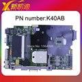 Para asus k40ab laptop motherboard k40ab rev 2.1/1.3 100% original testado bom!