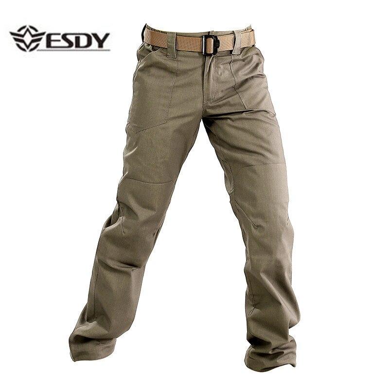 ESDY hommes militaire tactique pantalon printemps automne extérieur randonnée Camping imperméable haute qualité résistant à l'usure pantalon