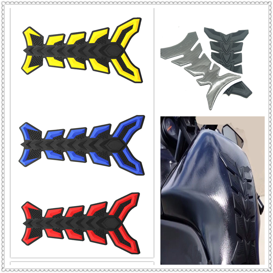 Motorcycle Fish Bone Pad Oil Gas Fuel Tank Cover Sticker Decal For HONDA CBR250R VFR 1200 F ST 1300 Black SpiRit NC750 S X