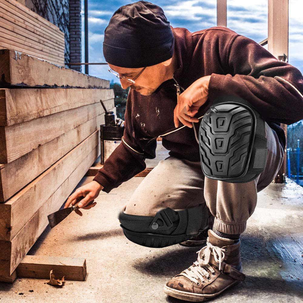 2 Pcs Yumuşak Köpük Diz Pedleri Iş Güvenliği Diz Koruyucuları Için Açık Sprot Bahçe Işçileri Builder Siyah Renk
