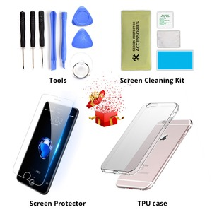 Image 2 - AAA For iPhone 5 5s 5c 6 6 Plus Display LCD Touch Screen Digitizer Assembly Replacement For iPhone 6 Screen+tempered glass+Tools