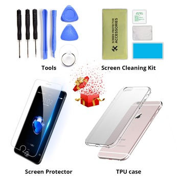 AAA For iPhone 5 5s 5c 6 6 Plus Display LCD Touch Screen Digitizer Assembly Replacement For iPhone 6 Screen+tempered glass+Tools