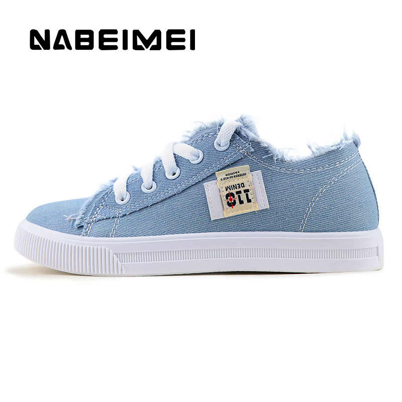 f24b78841 ... Women flats classic spring/autumn fashion denim women's shoes round toe  canvas shoes designer sneakers ...