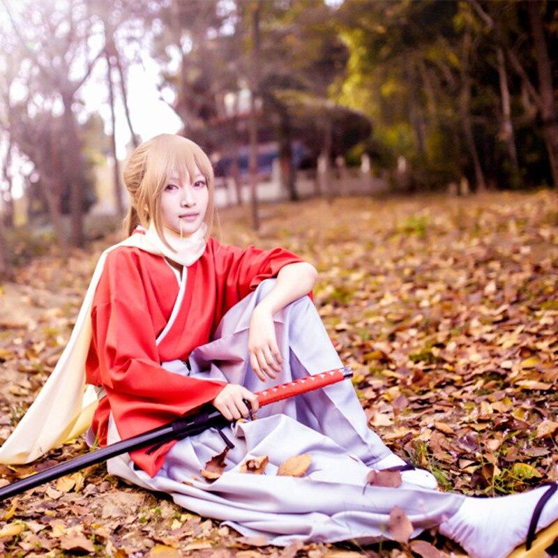 Anime Cosplay Gin Tama Okita Sougo Costume Cotton tops pants belt scarf Gintama Full set Free Shipping