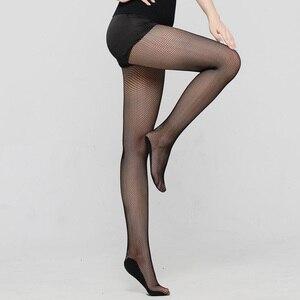 Image 2 - Vrouwen Sexy Latin Dance Professionele Panty Mesh visnet Panty Kousen Zwarte koffie naakt Kleuren Danser Kousen