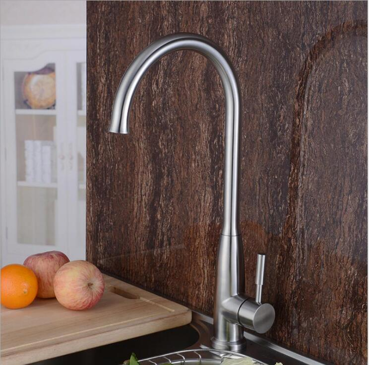 New Arrivals 360 Degree Swivel kitchen mixer Com Spray 304 stainless steel kitchen faucet sink mixer