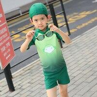 UPF50 + Kind Bademode Minions Badeanzug Batman Schwimmen Jungen Grünen Kinder Sport Bademode One Piece Baby Badeanzug Mit Hut
