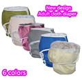 New Design 5pcs/lot Solid Color Adult diaper pant ,hook and loop  Adult Incontience cloth  reusable diapers