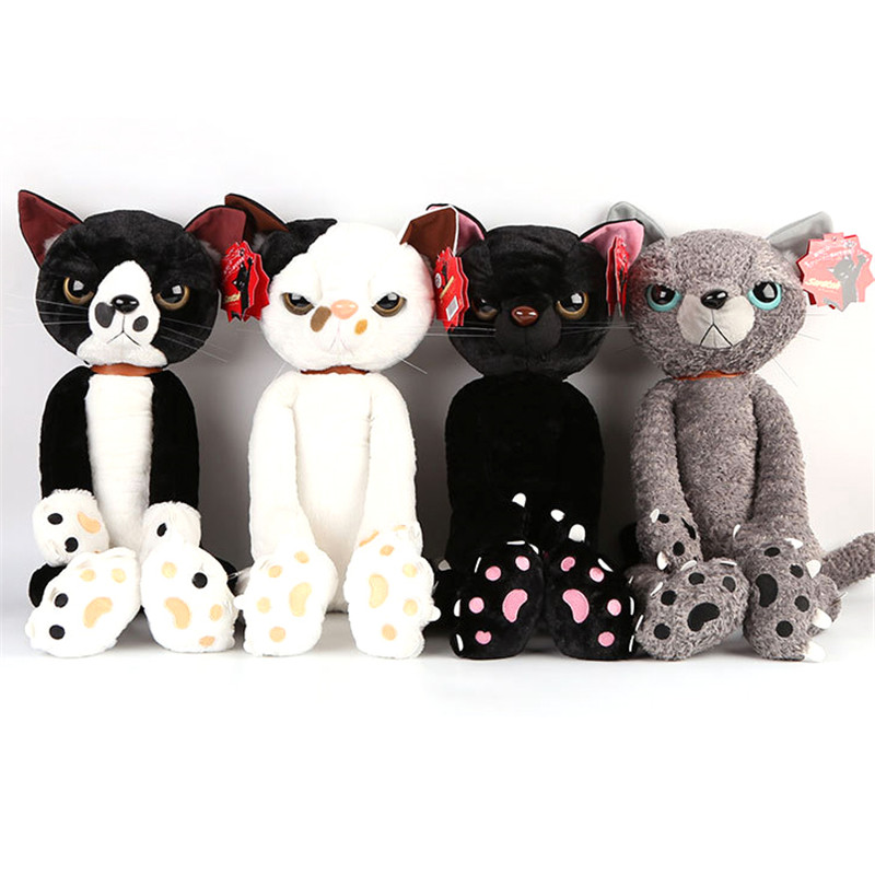 60cm Big Size Cat Stuffed Plush Toys Japan Scratch Kitten Cute kawaii Cartoon Dolls Peluche Sharp Paw Neko Soft Baby Kid Toys вытяжка купольная hansa okc 600 uwh