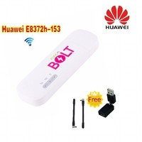 (+2pcs antenna+360 degree rotation )Unlocked Huawei E8372 150Mbps 4G LTE FDD 800/900/1800/2100/2600MHz HiLink USB Wireless Modem