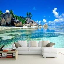 3d фотообои на заказ рулон для стен морской пейзаж пляж остров