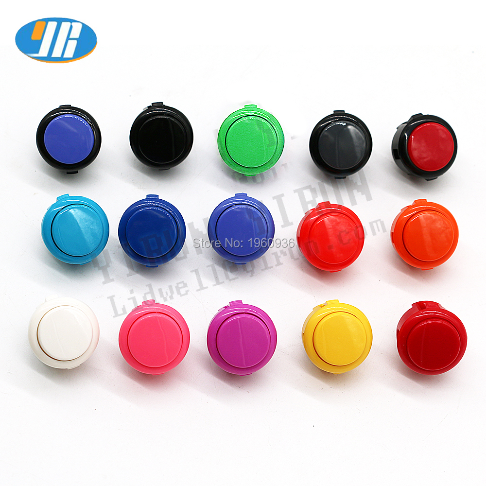 1 Original SANWA OBSF-30 Round Push Button 30mm Arcade Swith For DIY Joystick Set PC PS/3 XBOX Game Parts