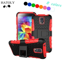 sFor Cover Samsung Galaxy S5 Case Heavy Duty Hard Rubber Silicone Phone Case for Samsung Galaxy S5 Cover for Samsung S5 Bag *(China)