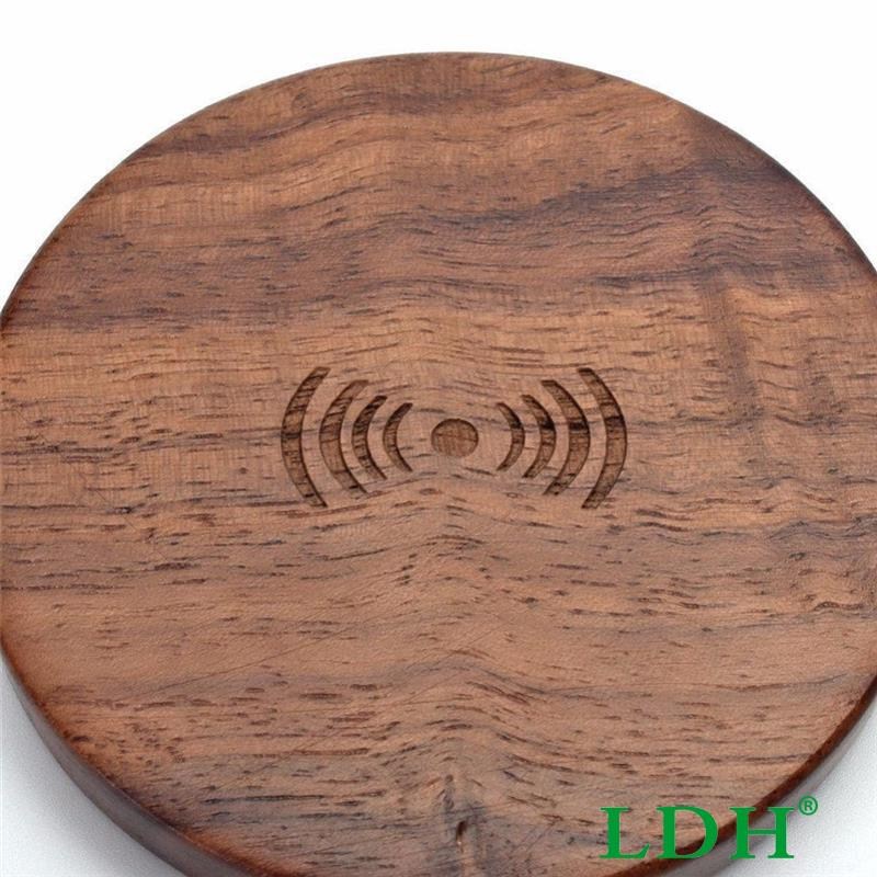 Universal Wood Qi Wireless Power Charging Charger Pad For Samsung Galaxy S6 S7 Edge Plus Note 5 For IPhone 6s Plus Phone Tablets