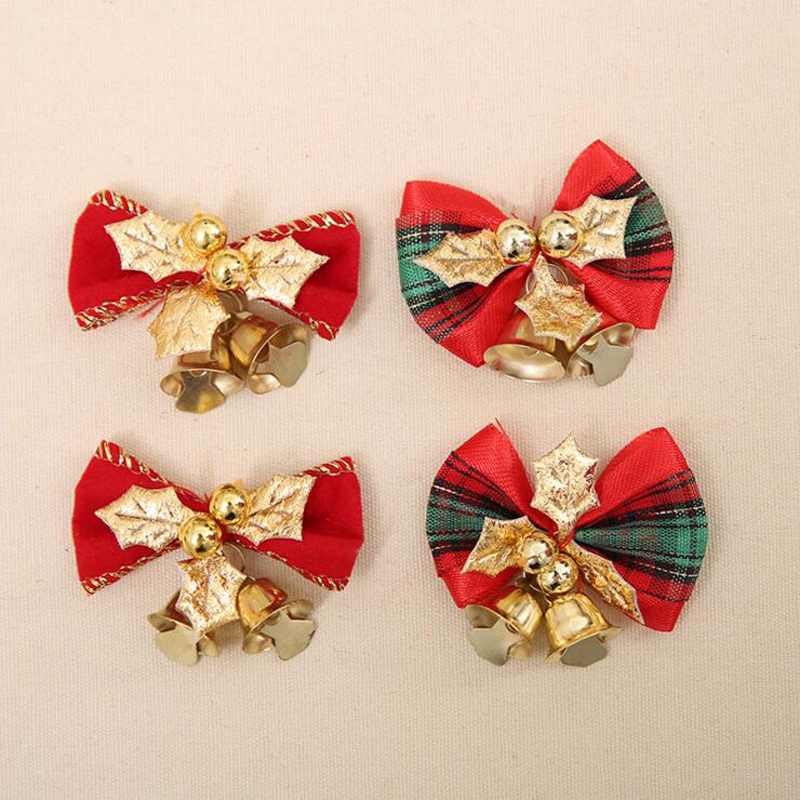 wholesale christmas bow tie type xmas decorations size 44cm cute bowknot christmas tree ornament 6pcslot in christmas bows from home garden on