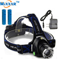 ZK30 Cree XM-L T6 Led Headlamp3800LM Headlight Zoomable Led Head Torch Fishing Light +2*18650 5000mAh Batteries+1* AC Charger