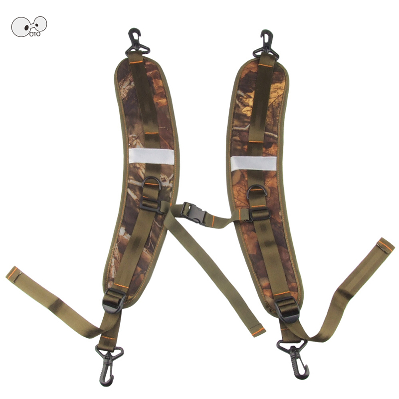 1 Pair Camouflage Breathable Adjustable Waterproof Backpack Straps Anti Shock Shoulder Strap Belt Double Hooks Replacement Parts