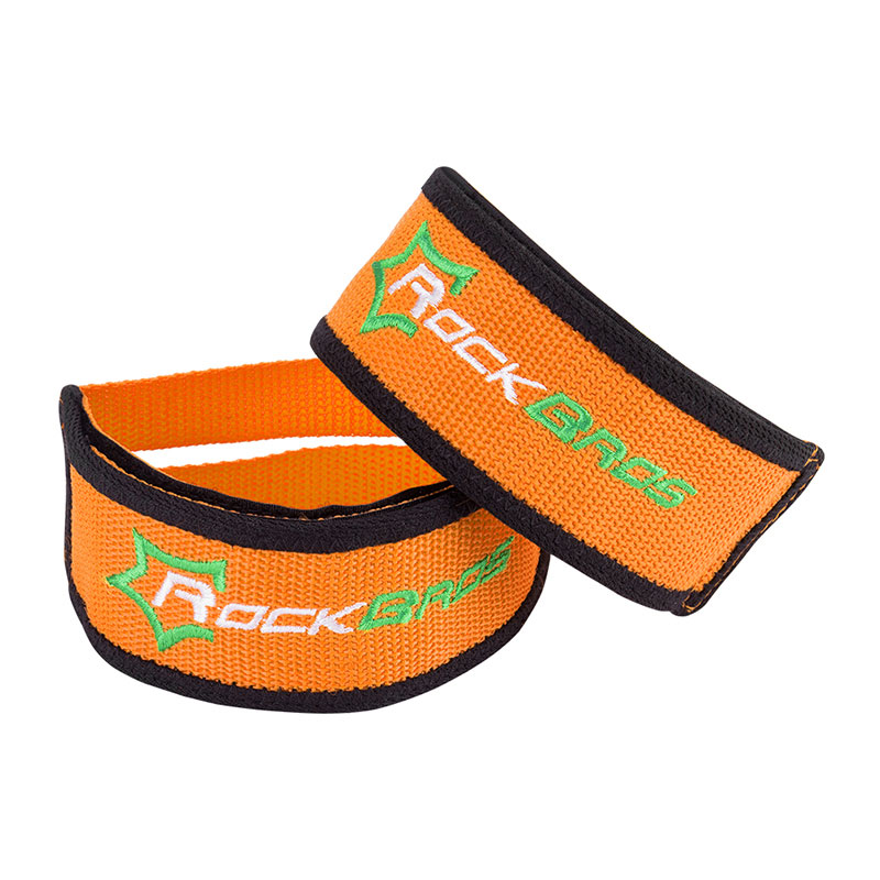 RockBros Cycling Pedals Band Feet Set With Strap Beam Foot  1 pair Orange
