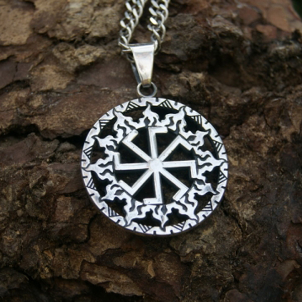 10pcs Kolovrat pendant -Slavic symbol of the sun.Ancient slavic talisman pendant sun Wheel men necklace