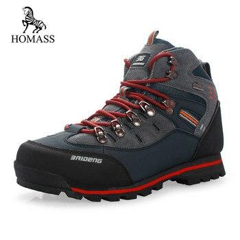 HOMASS Homens Botas 2018 Outono Inverno Botas De Neve Homens Sapatos de Borracha de Calçados de Moda Masculina Tornozelo Segurança do Trabalho Botas de Combate Tênis