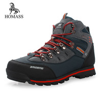 HOMASS Men Boots 2018 Autumn Winter Snow Boots Men Shoes Footwear Fashion Male Rubber Combat Ankle Work Safety Boots Sneakers