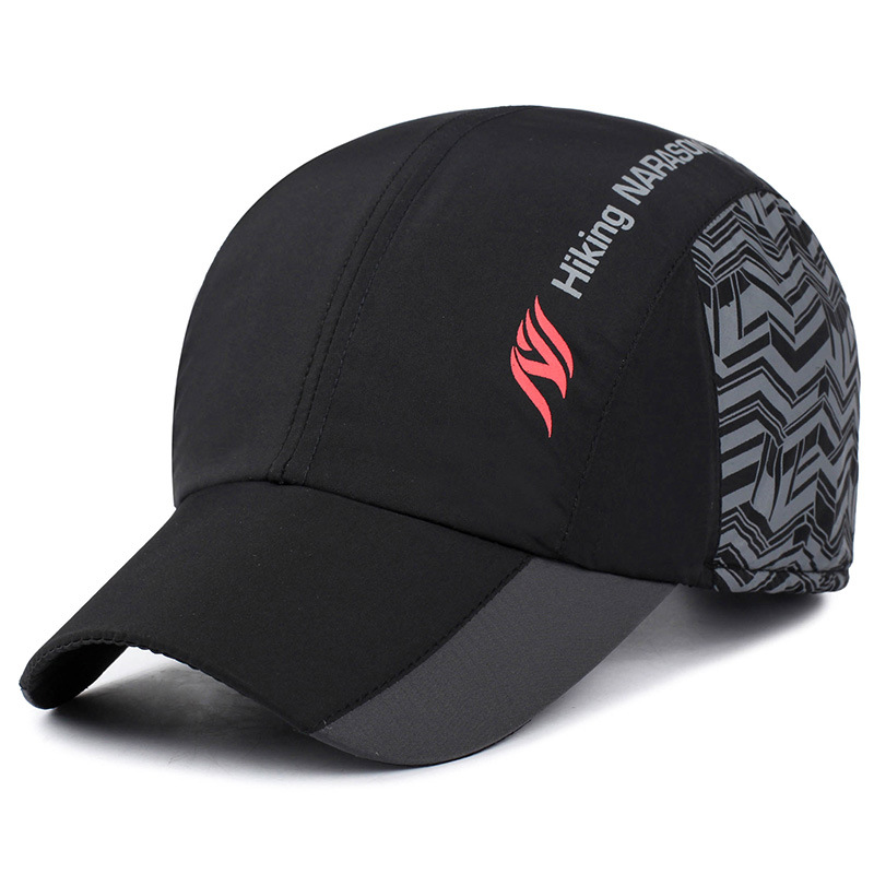 branded baseball cap for with ear flaps keep warm