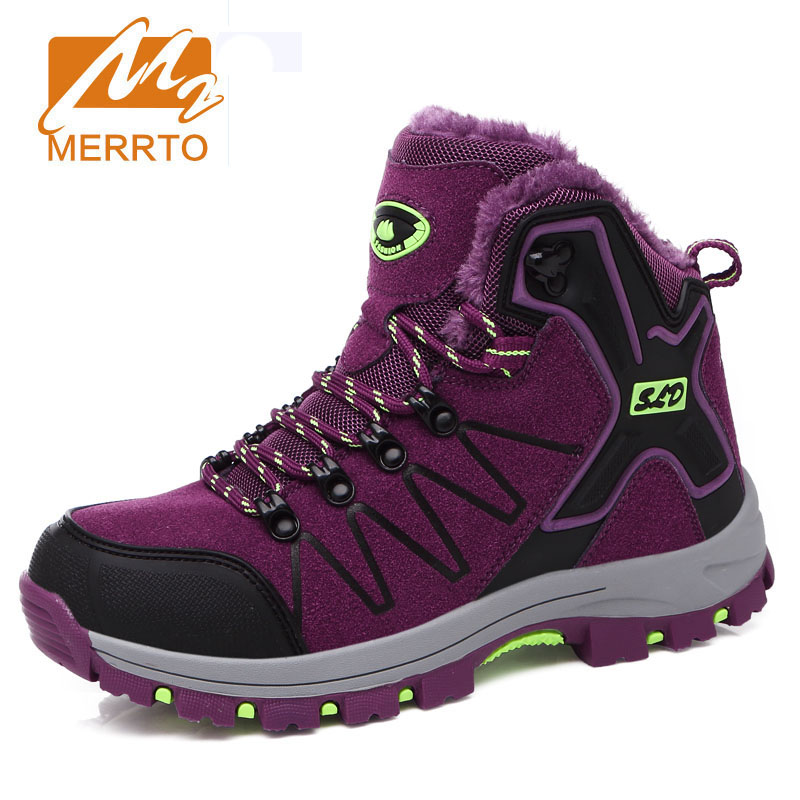 MERRTO Women Hiking Shoes Mountain Climbing Trekking Shoes Camping Sneakers Professional Breathable Leather Outdoor Travel Boots цены онлайн