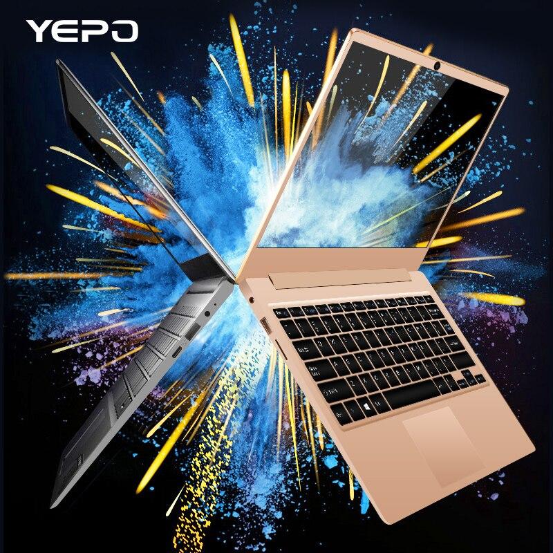 YEPO Ноутбук 13,3 дюймов Apollo версия Intel Celeron N3450 ноутбуки Оперативная память 6 ГБ Встроенная память 128 ГБ 196 ГБ SSD Ultrabook золото/серый цвет ноутбука