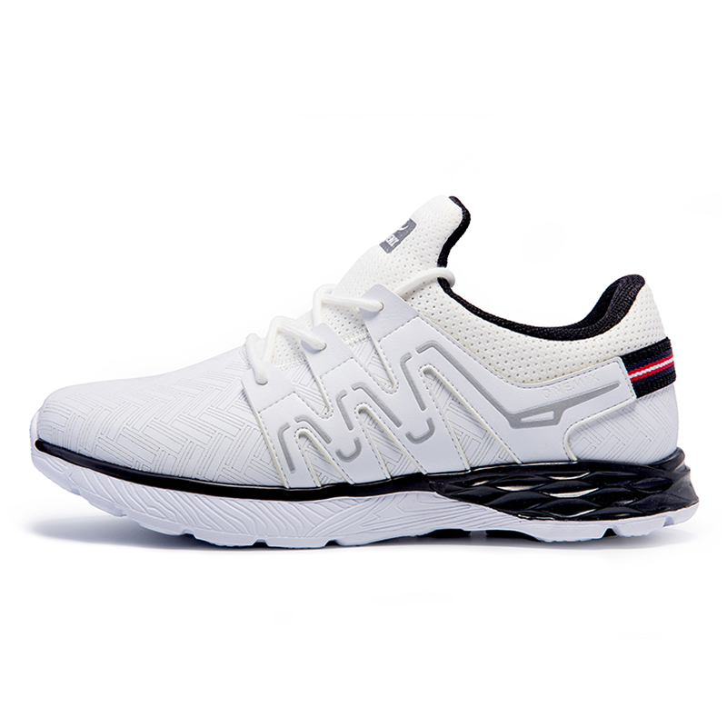 ONEMIX Men's Running Shoes Leather Shoes Reflective Male Athletic Shoes Outdoor Sports Lightweight Sneakers For Jogging Trekking-in Running Shoes from Sports & Entertainment    3