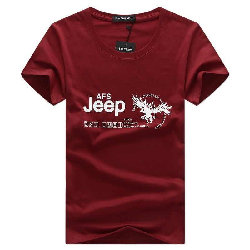 af7aad7d1 Jeep Brand men's T-shirts AFS EST Letter printing man t shirt 2018 Hot Sale