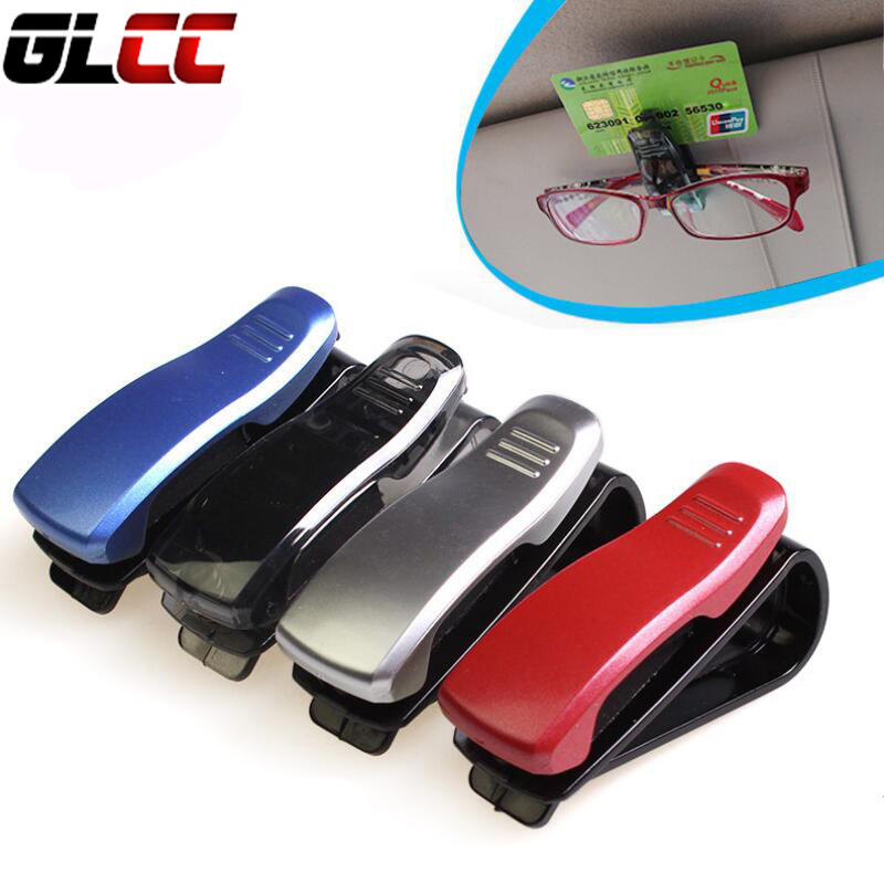 Universal car auto fastener clip vehicle sun visor sunglasses eyeglasses glasses ticket pen holder clip Black Red Blue silver