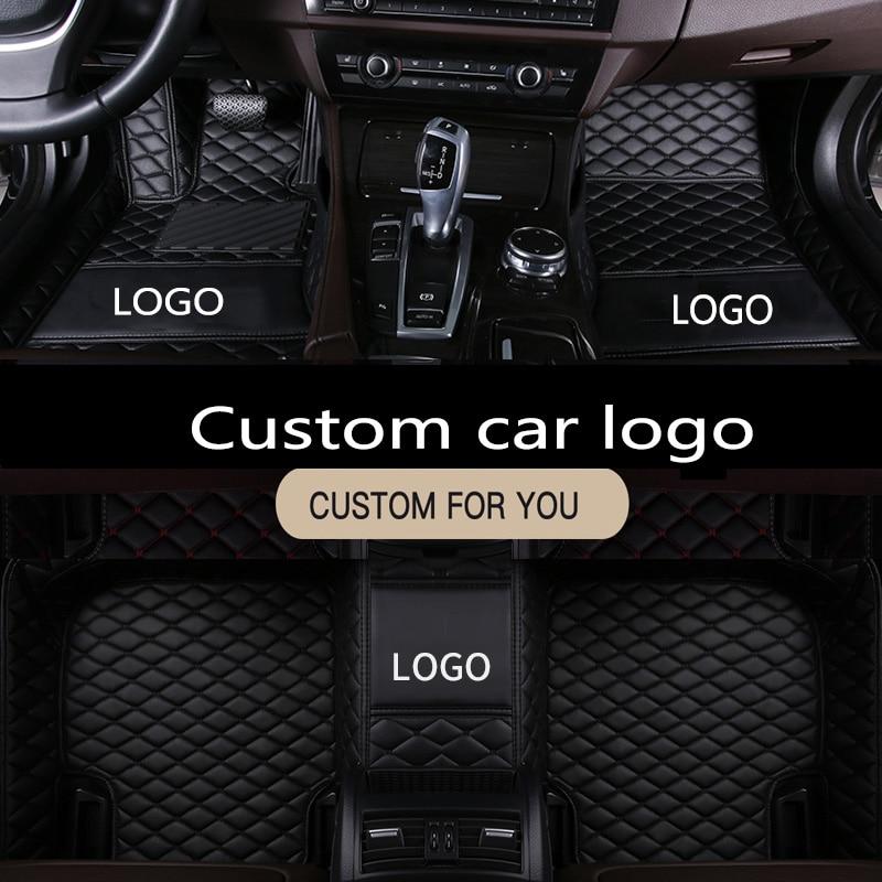 For Car Floor Mats Mercedes-Benz E-Class W210 W211 W212 W213 2005-2019 LOGO