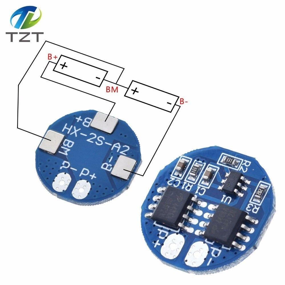 2S 5A Защитная плата bms pcm для зарядки литий-ионных аккумуляторов 7,4 В 8,4 в 18650