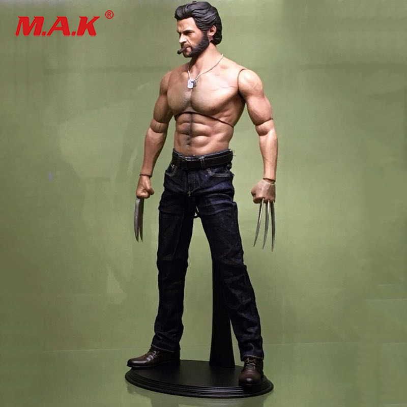 Hot Toys Head Sculpt Collectible Toys In Stock 1/6 Male Muscle Body Wolverine Logan Figure 31CM Wide Shoulder AT012 Fit HT