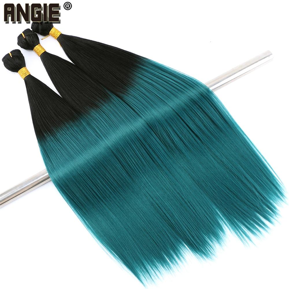 20-24 Inch Straight Hair Bundles Synthetic Hair Extensions 300 Gram/lot High Temperature Fiber Hair Weave