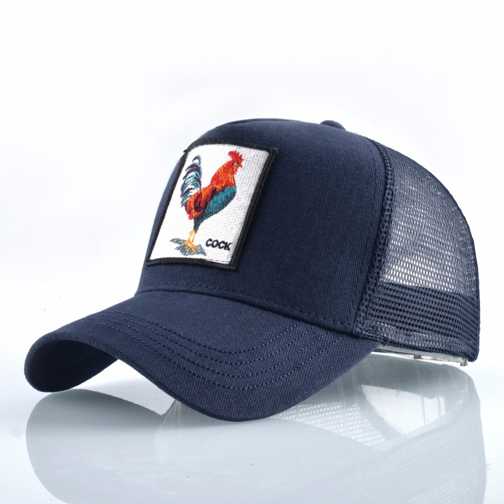 Cock Embroidery Baseball Cap Men Women Snapback Caps Breathable Mesh Hip Hop Hats Unisex Casual Eat Chicken Bone Casquette 3