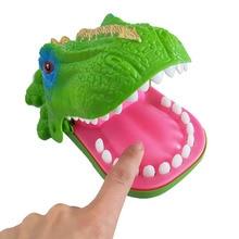 Hot Big Practical Joke Electric Biting Dinosaur Teeth Bite Finger Adult Bar Prank Game Kids Children Funny Education Toys Gift все цены
