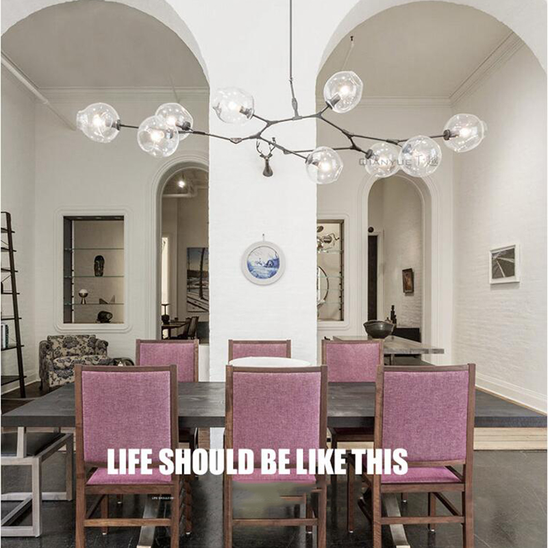 lindsey adelman globe branching bubble chandelier modern chandelier light lighting included led dimmable bulbs free shipping - Bubble Chandelier